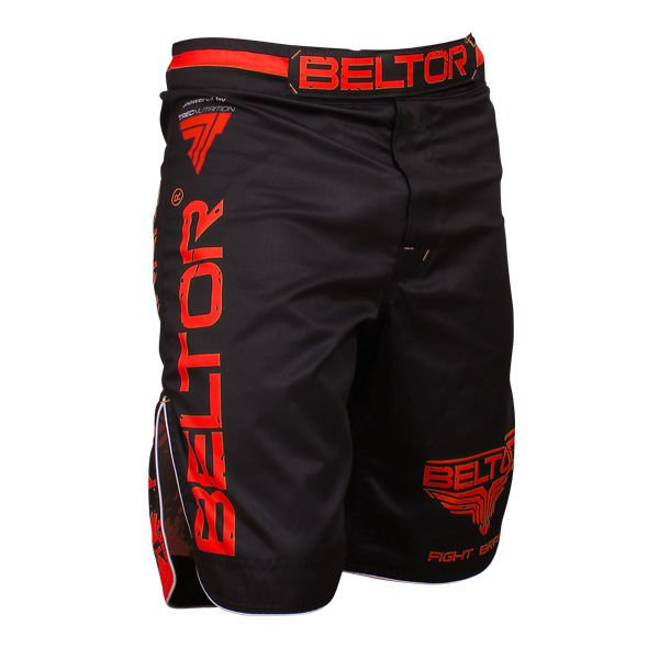 Spodnie Beltor FIGHT SHORTS – RED PUNCH