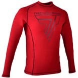 "Koszulka Trec Nutrition MEN'S TREC WEAR - BIG BLACK LOGO ""T"" + TREC TEAM - RASH 004/LONG SLEEVE/RED"